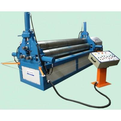 - Calandra para chapas e tubos eletro-hidráulica até espessura de 16mm.